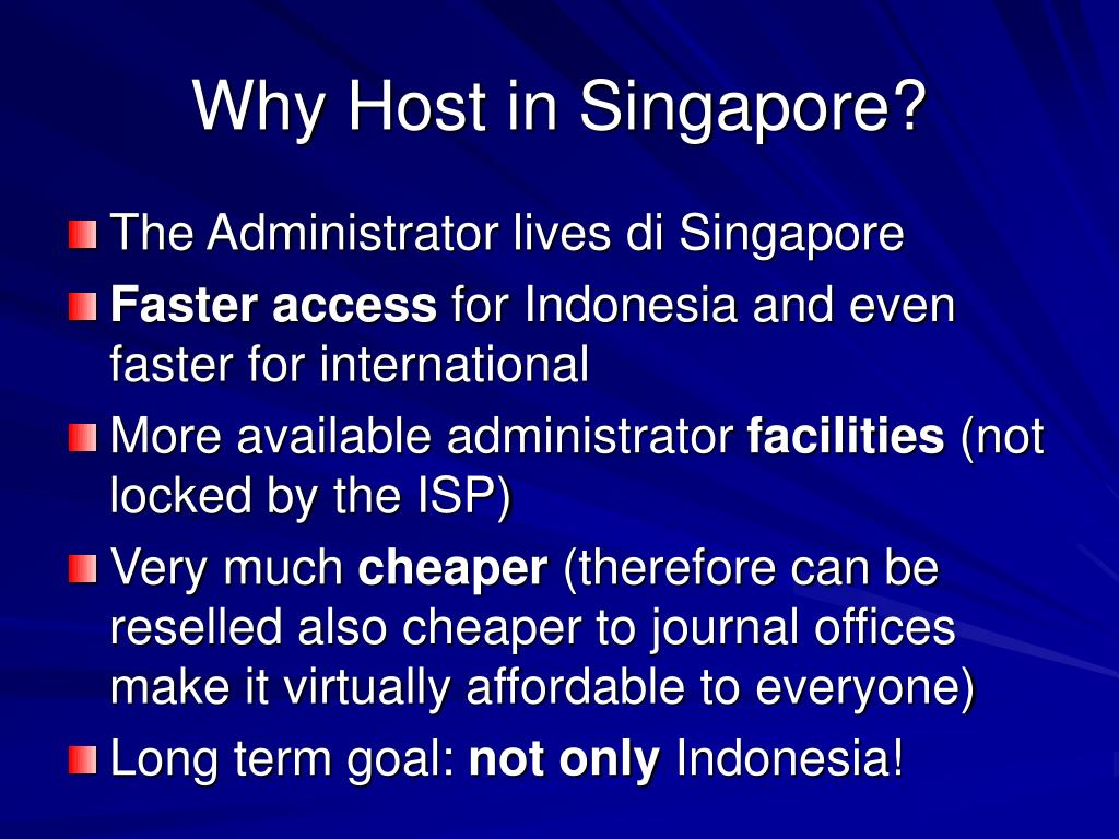 Why Host in Singapore?