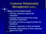 customer relationship management cont92