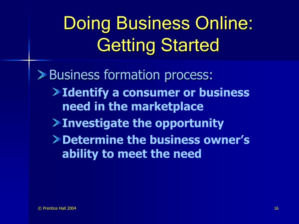 Doing Business Online: