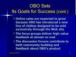 obo sets its goals for success cont13