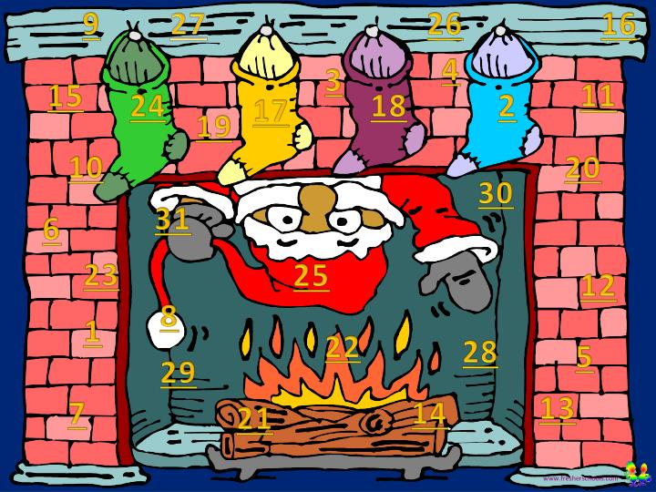 Christmas advent calendar 31 days ppt