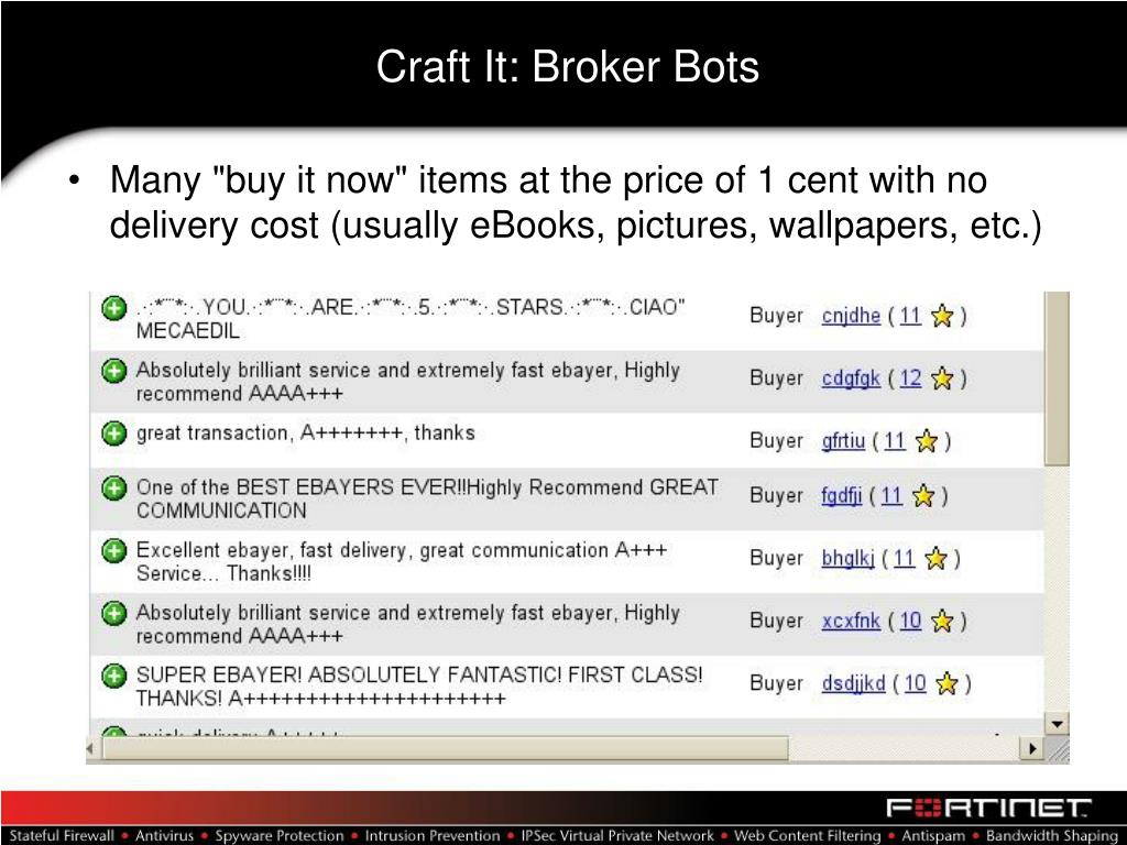 Craft It: Broker Bots