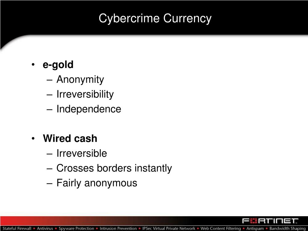 Cybercrime Currency