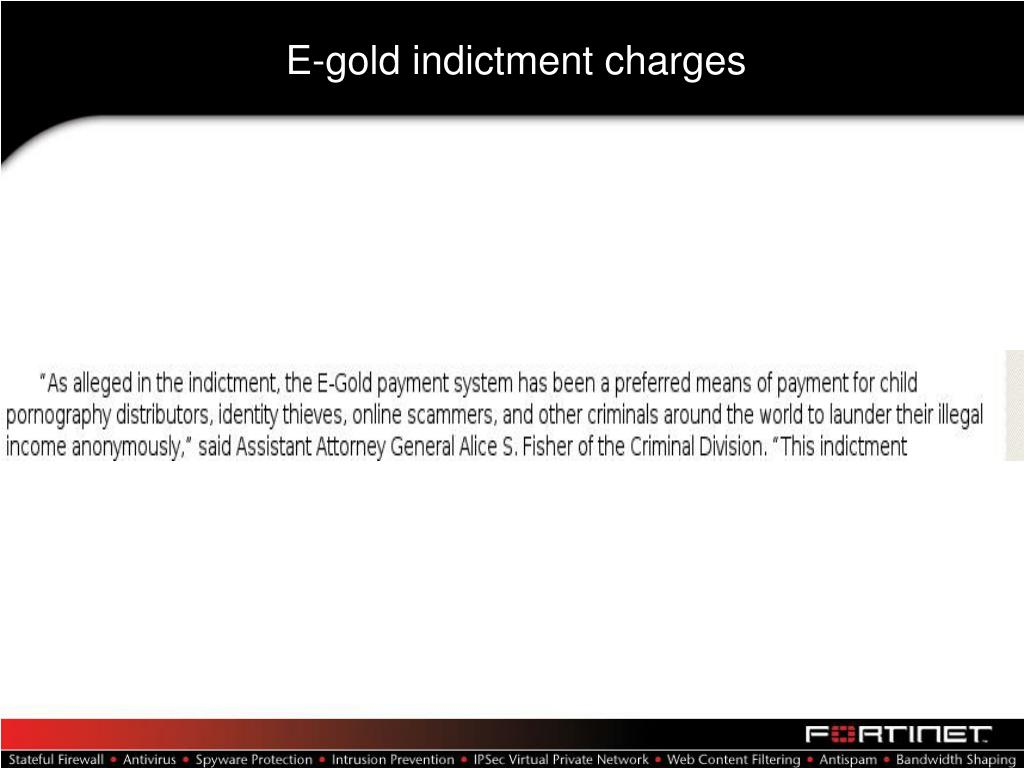 E-gold indictment charges