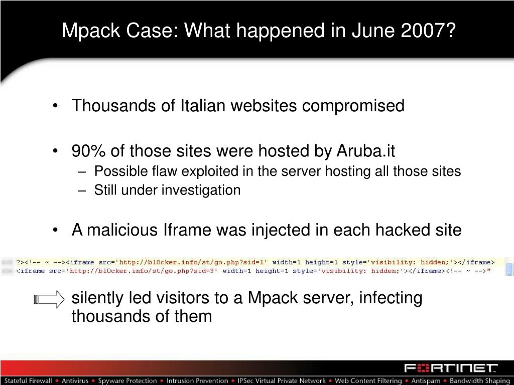 Mpack Case: What happened in June 2007?