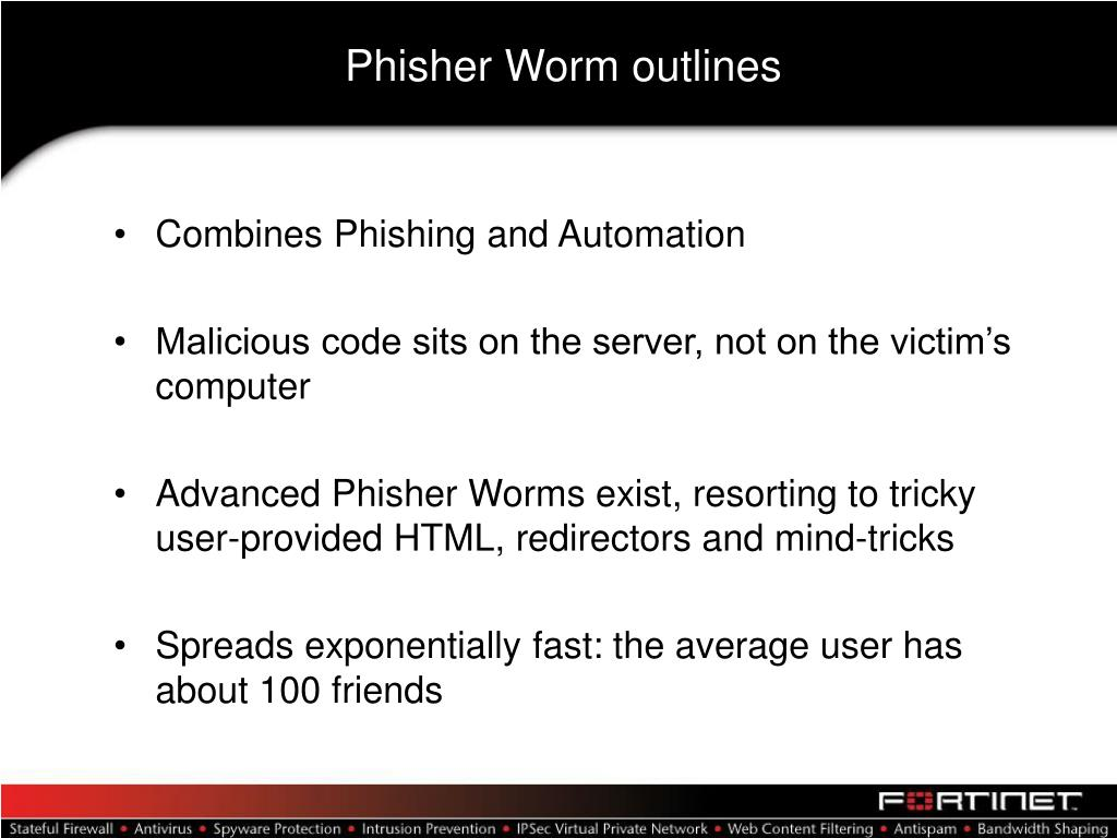 Phisher Worm outlines