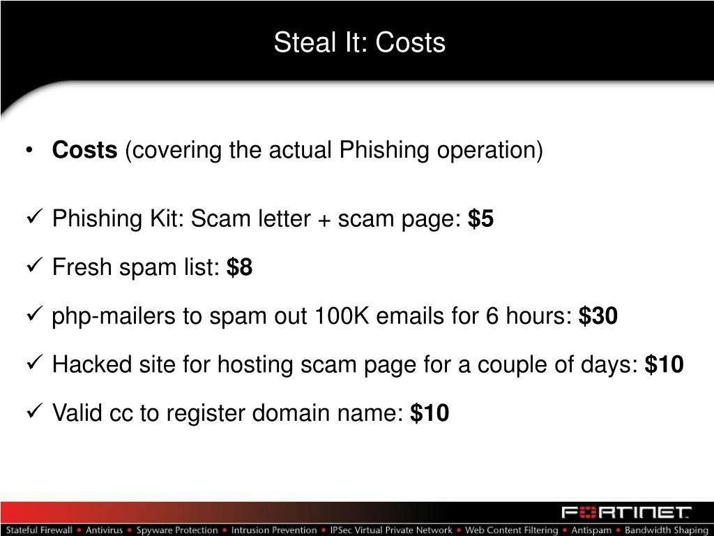 Steal It: Costs