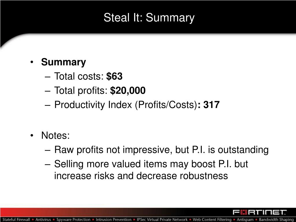 Steal It: Summary