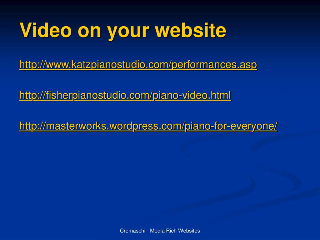 Video on your website