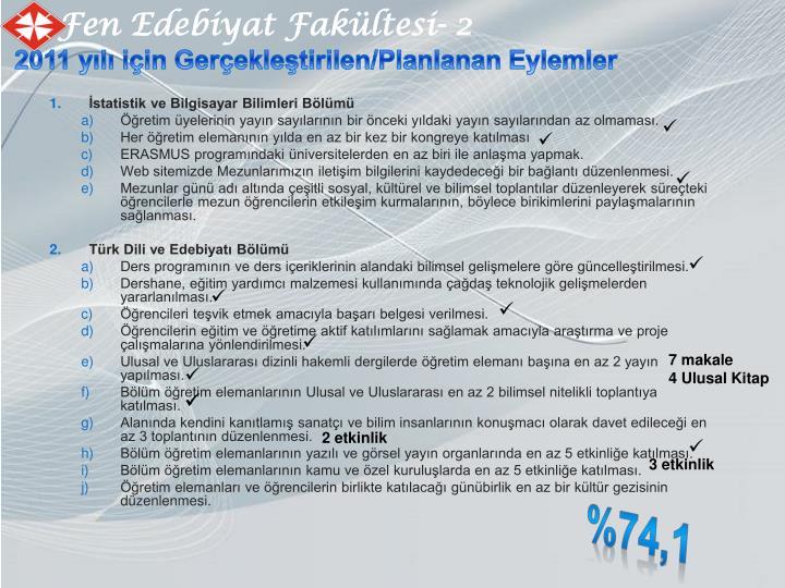 Fen Edebiyat Fakültesi- 2