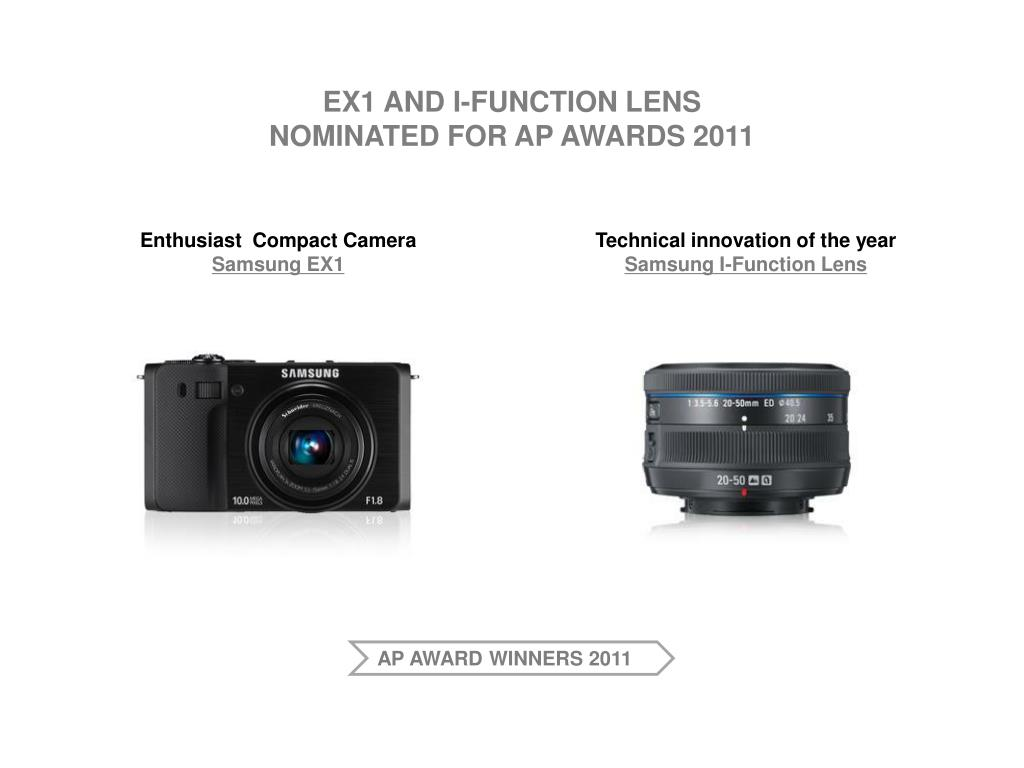 ex1 and i function lens nominated for ap awards 2011
