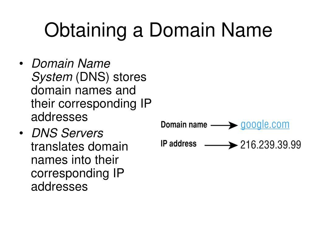 Obtaining a Domain Name