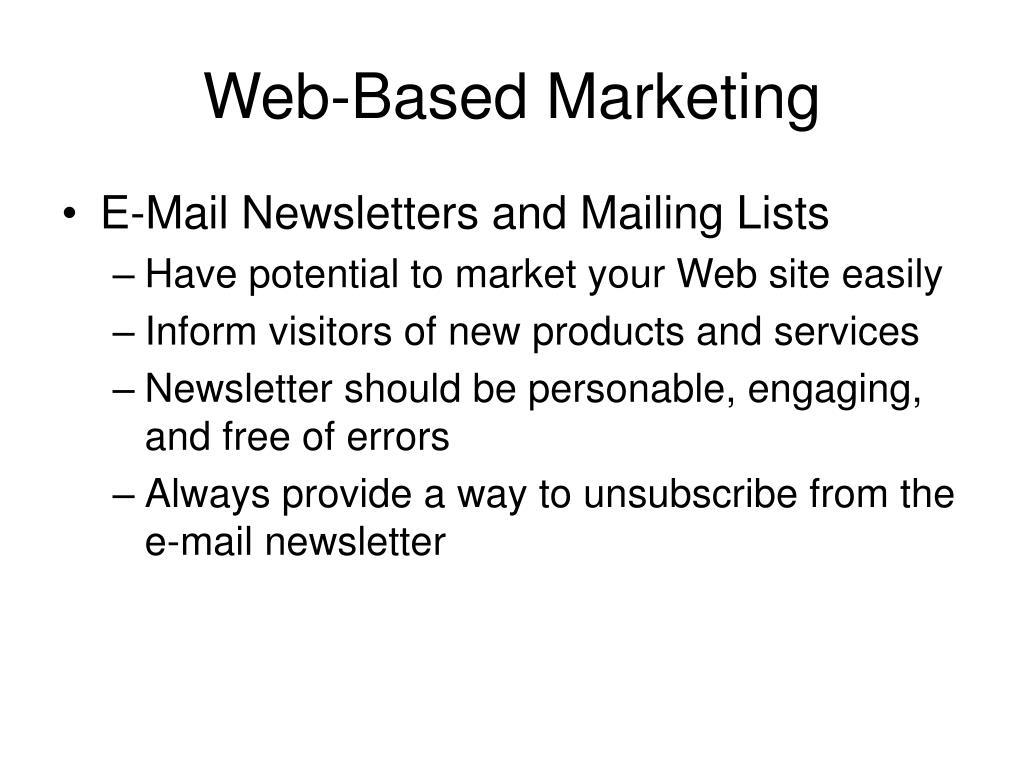 Web-Based Marketing