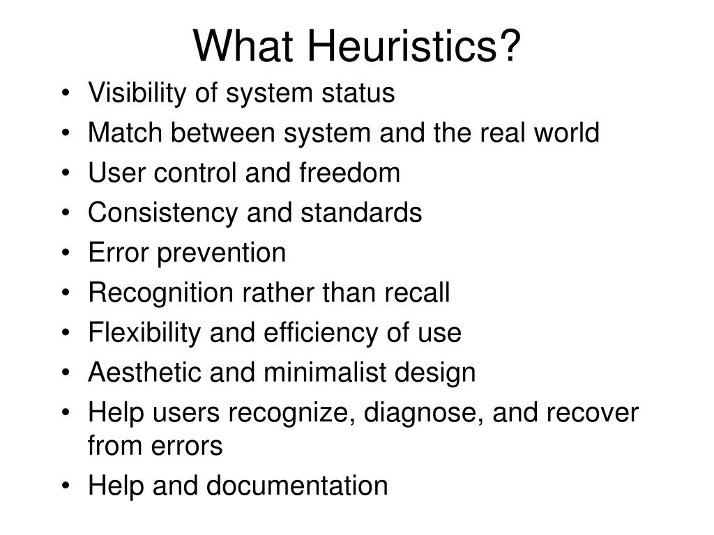 What Heuristics?