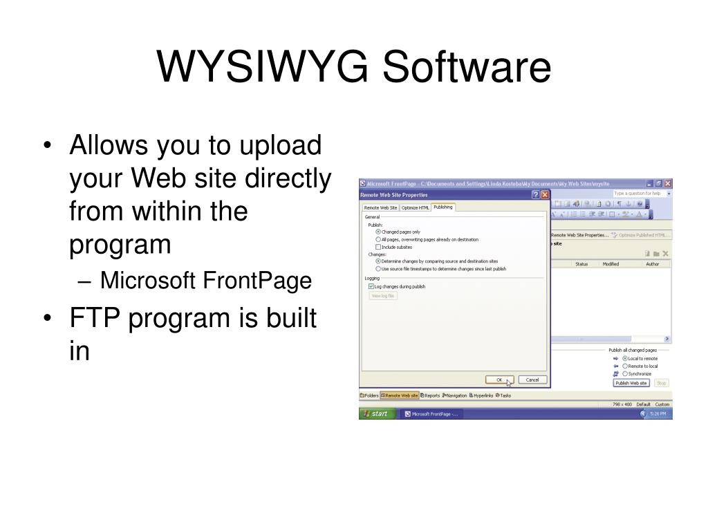 WYSIWYG Software