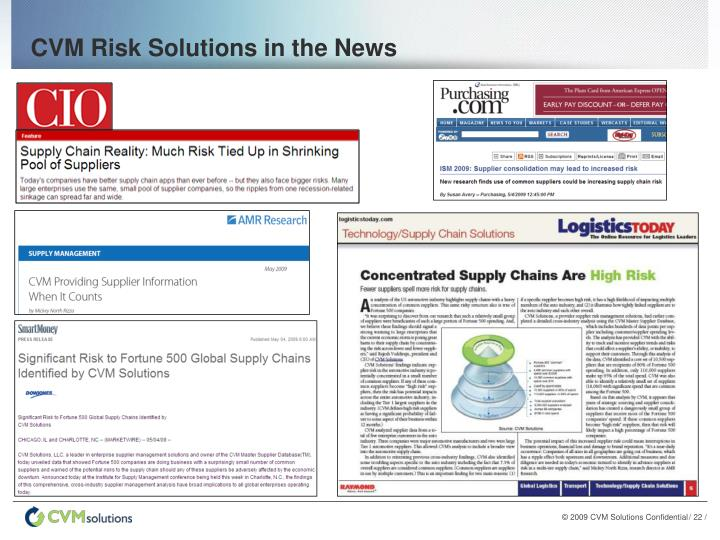 CVM Risk Solutions in the News