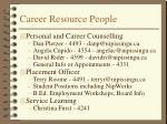 career resource people