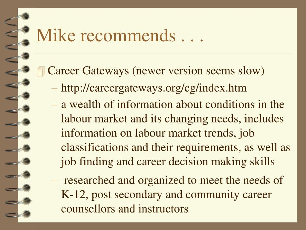 Mike recommends . . .