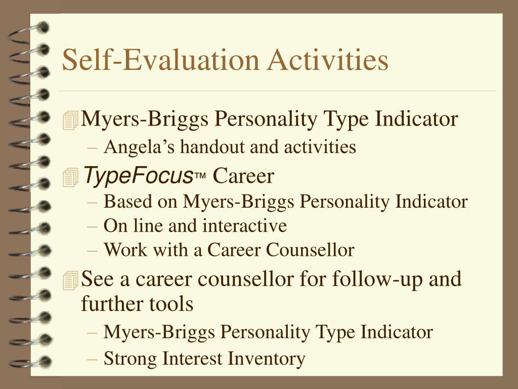 Self-Evaluation Activities