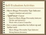 self evaluation activities
