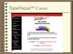 typefocus career
