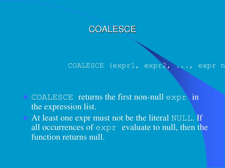 COALESCE