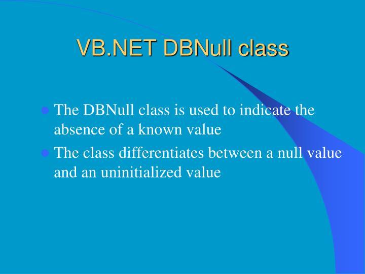 VB.NET DBNull class