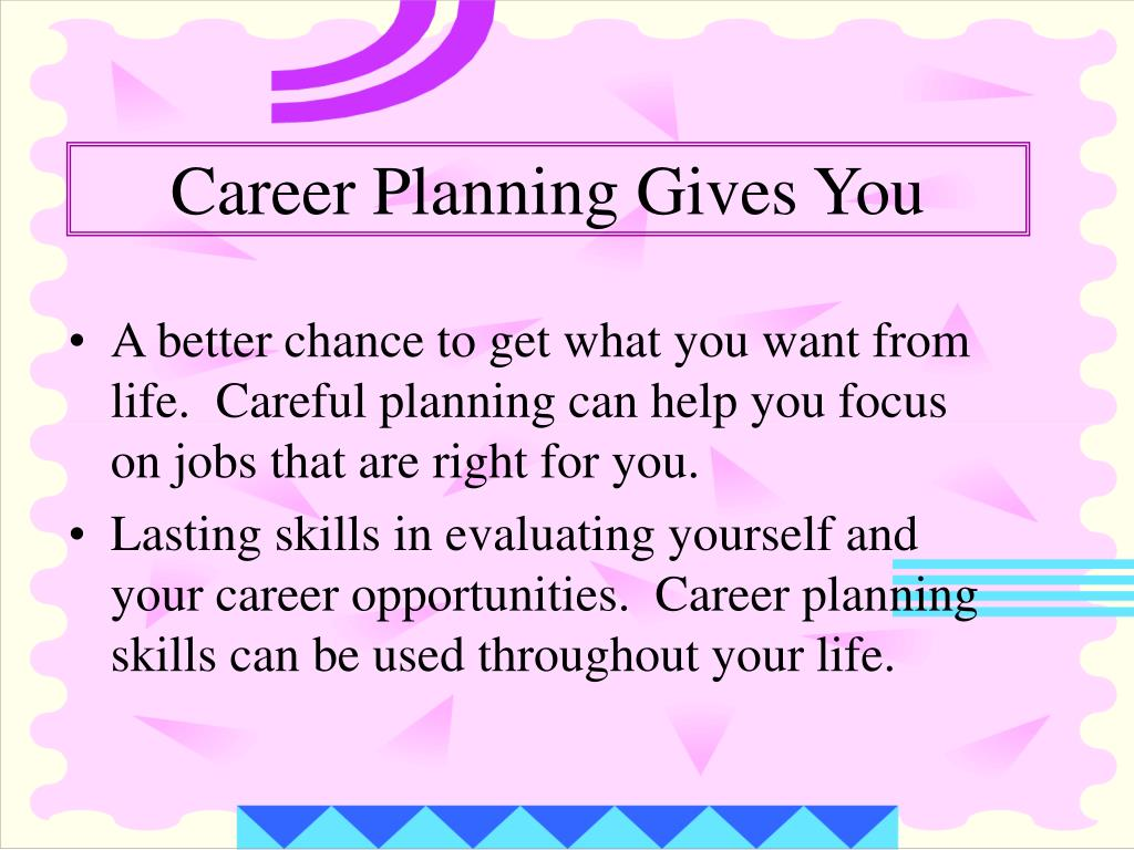 Career Planning Gives You