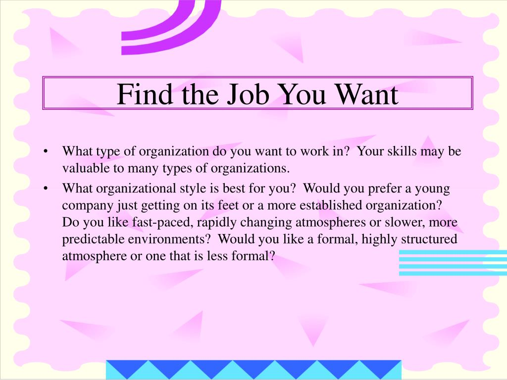 Find the Job You Want