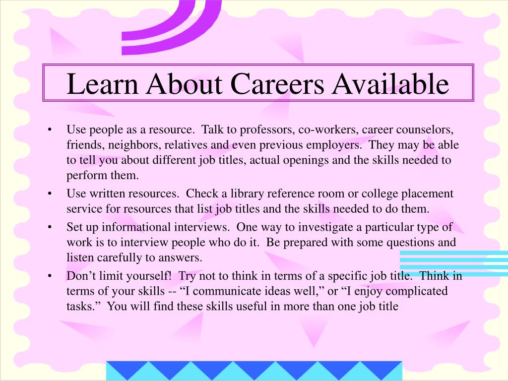 Learn About Careers Available