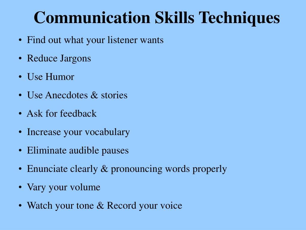 Communication Skills Techniques
