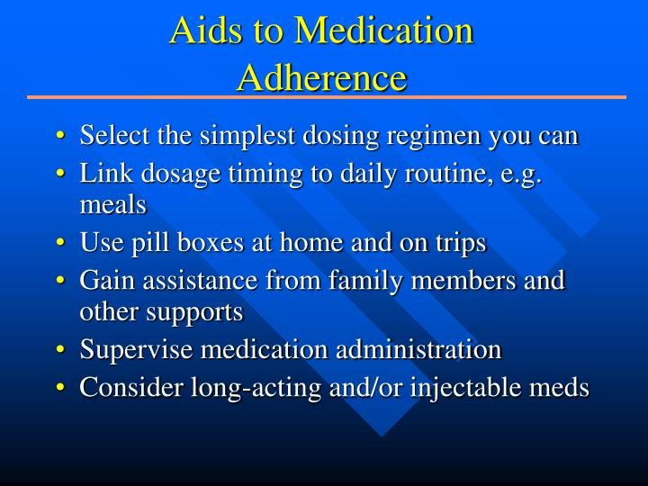 Aids to Medication Adherence