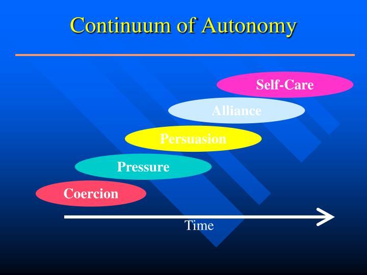 Continuum of Autonomy