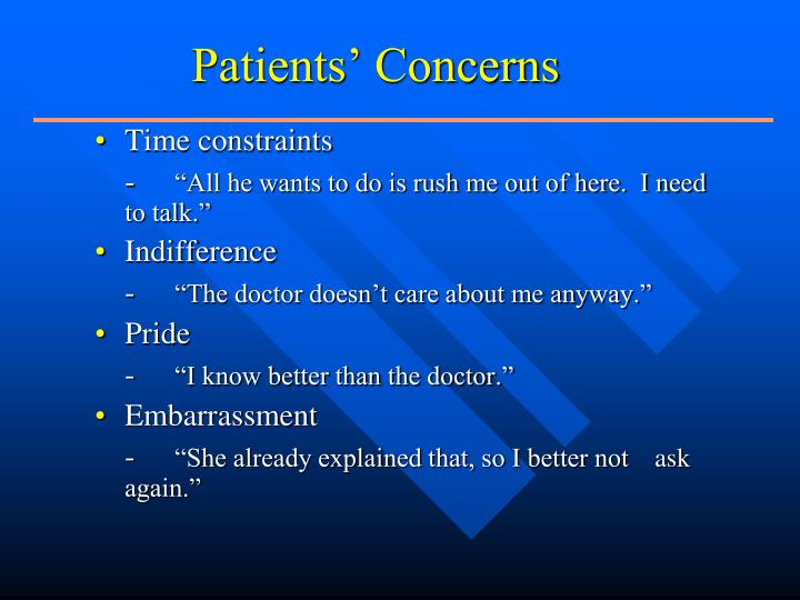 Patients' Concerns