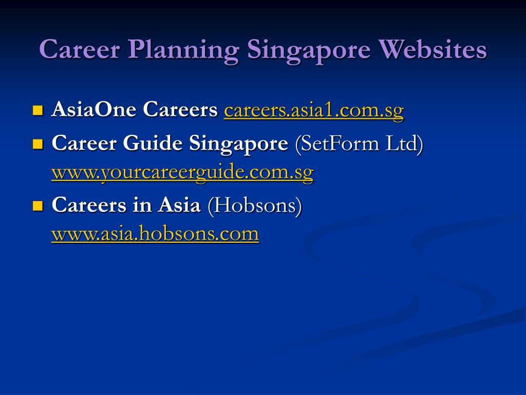 Career Planning Singapore Websites