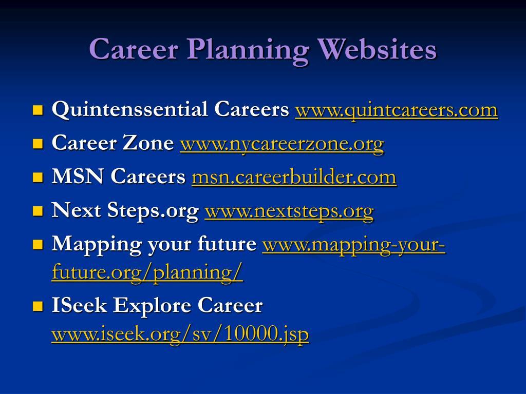 Career Planning Websites