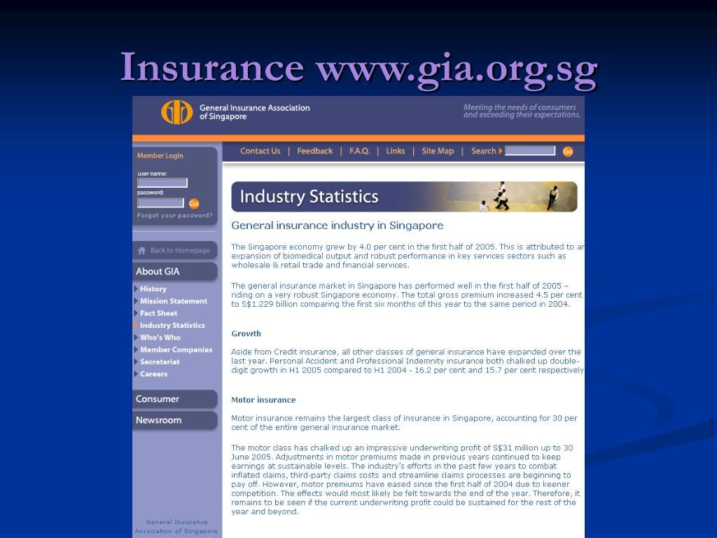 Insurance www.gia.org.sg