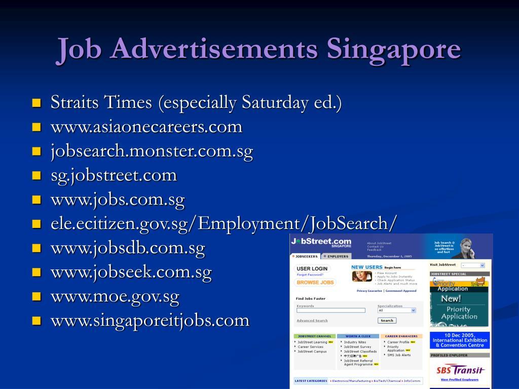 Job Advertisements Singapore