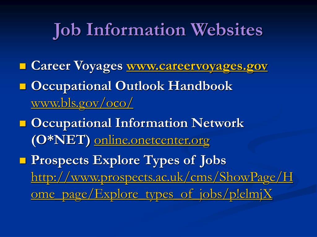 Job Information Websites