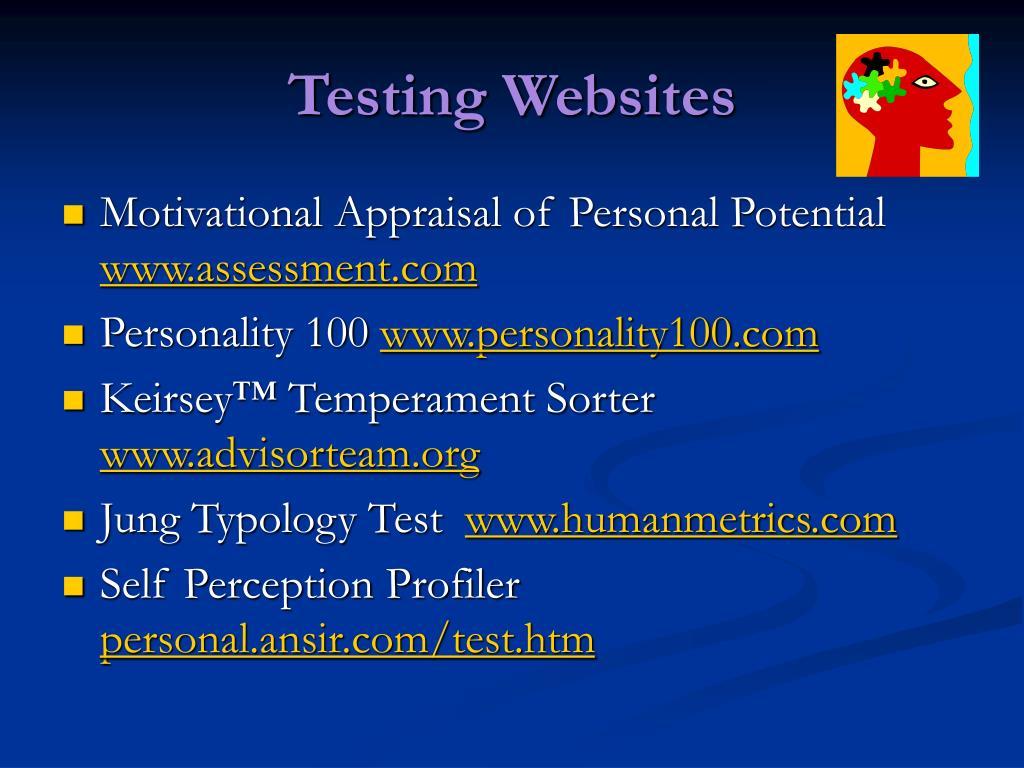 Testing Websites