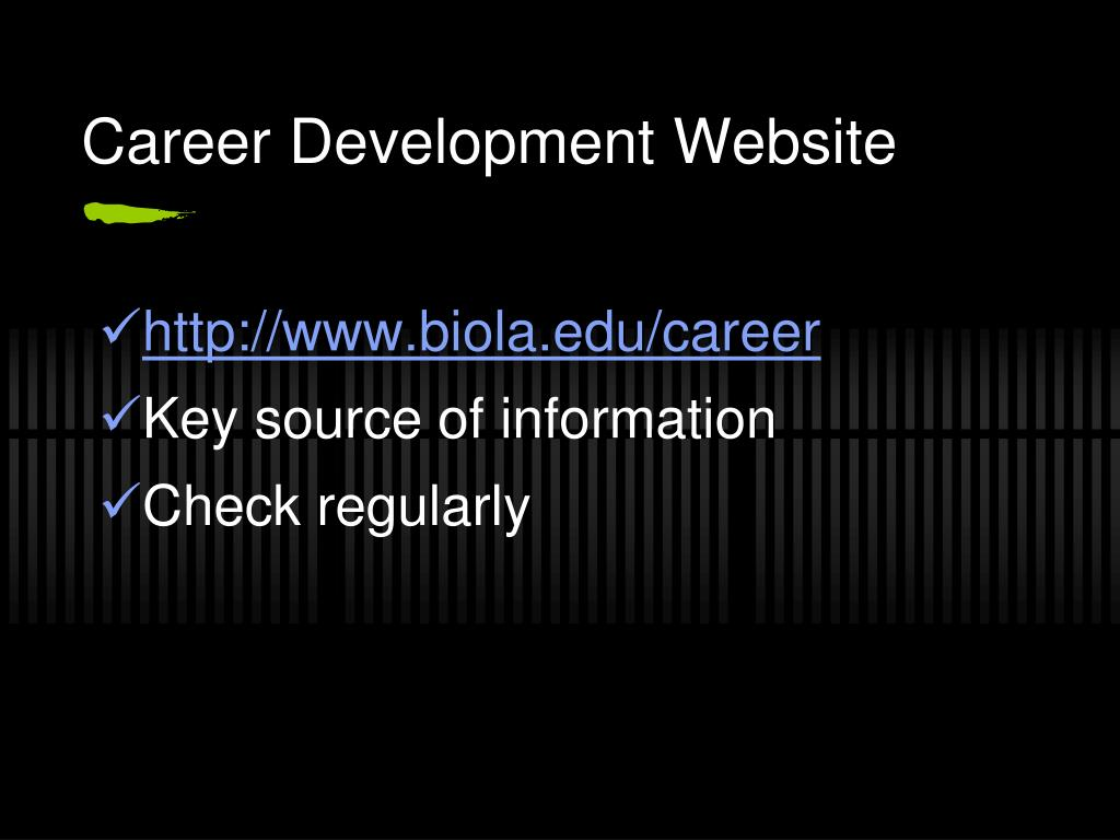 Career Development Website