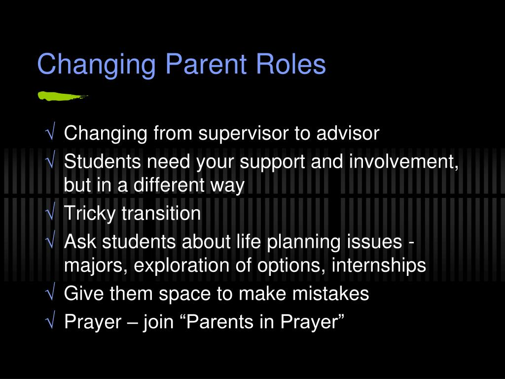 Changing Parent Roles