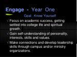 engage year one