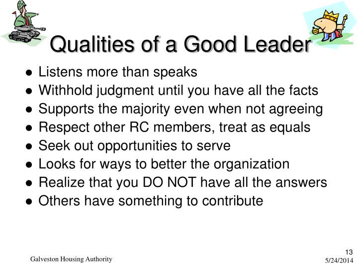 qualities of a good leader pdf
