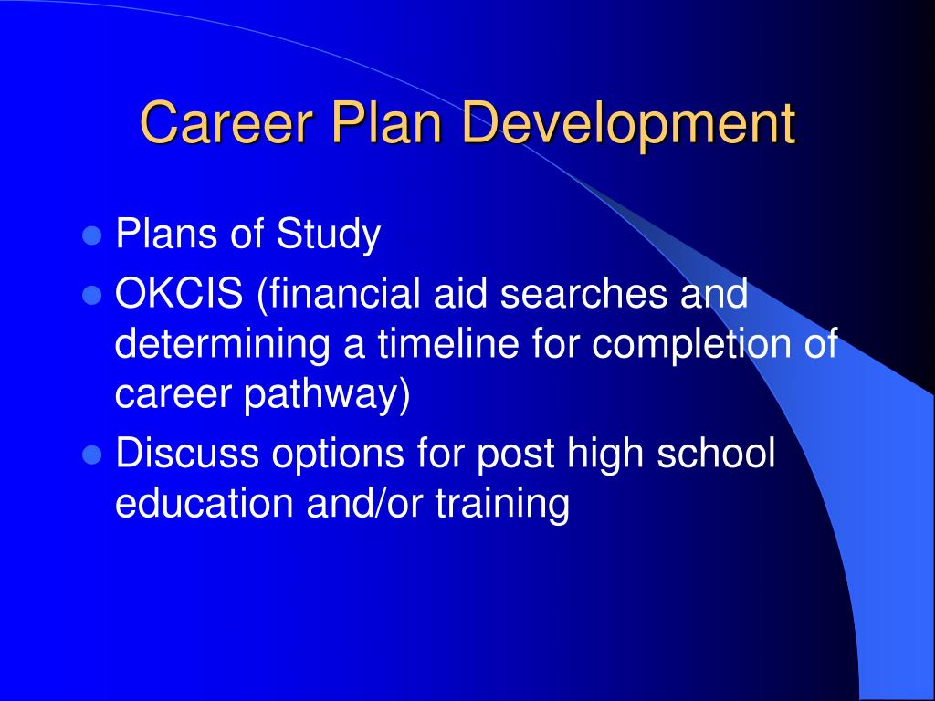 Career Plan Development