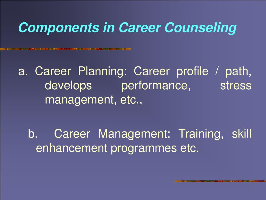 Components in Career Counseling