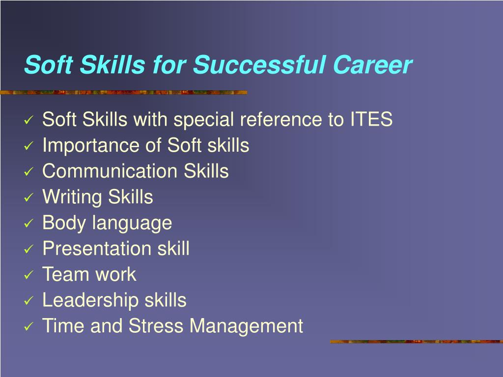 Soft Skills for Successful Career