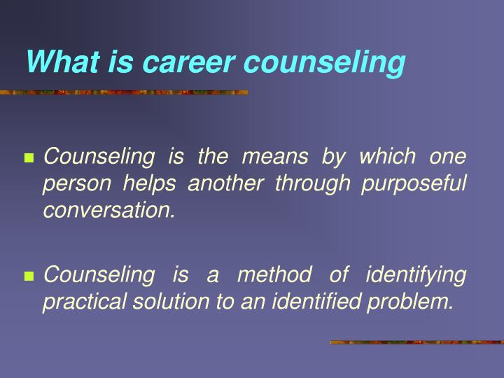 What is career counseling