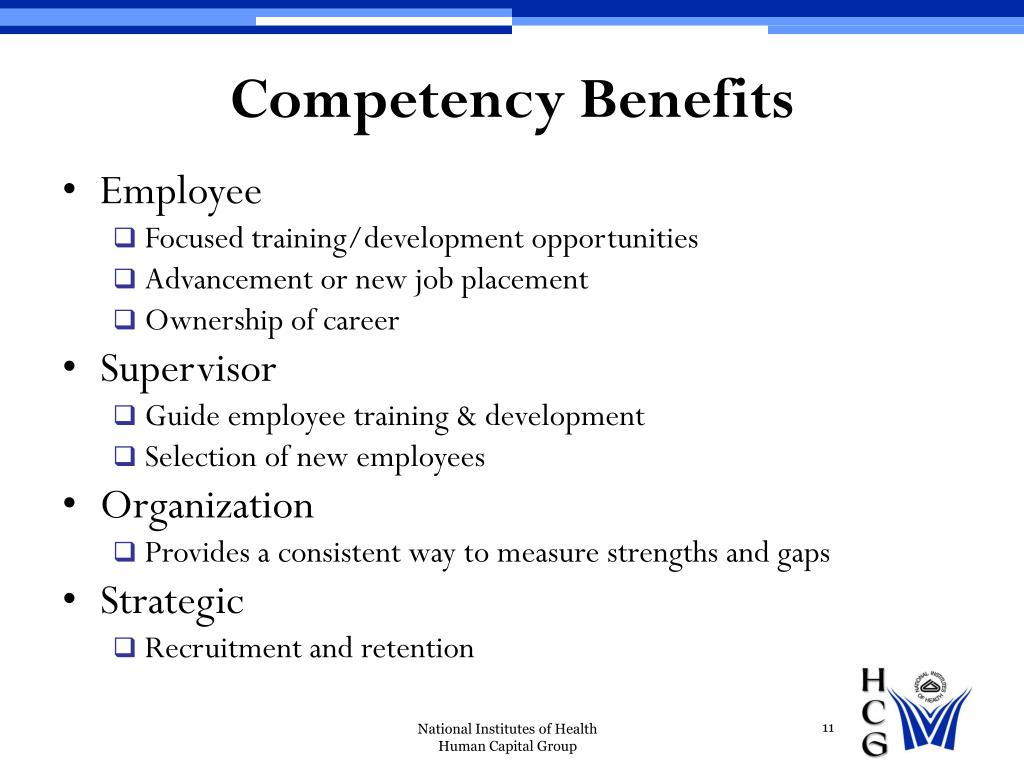 Competency Benefits
