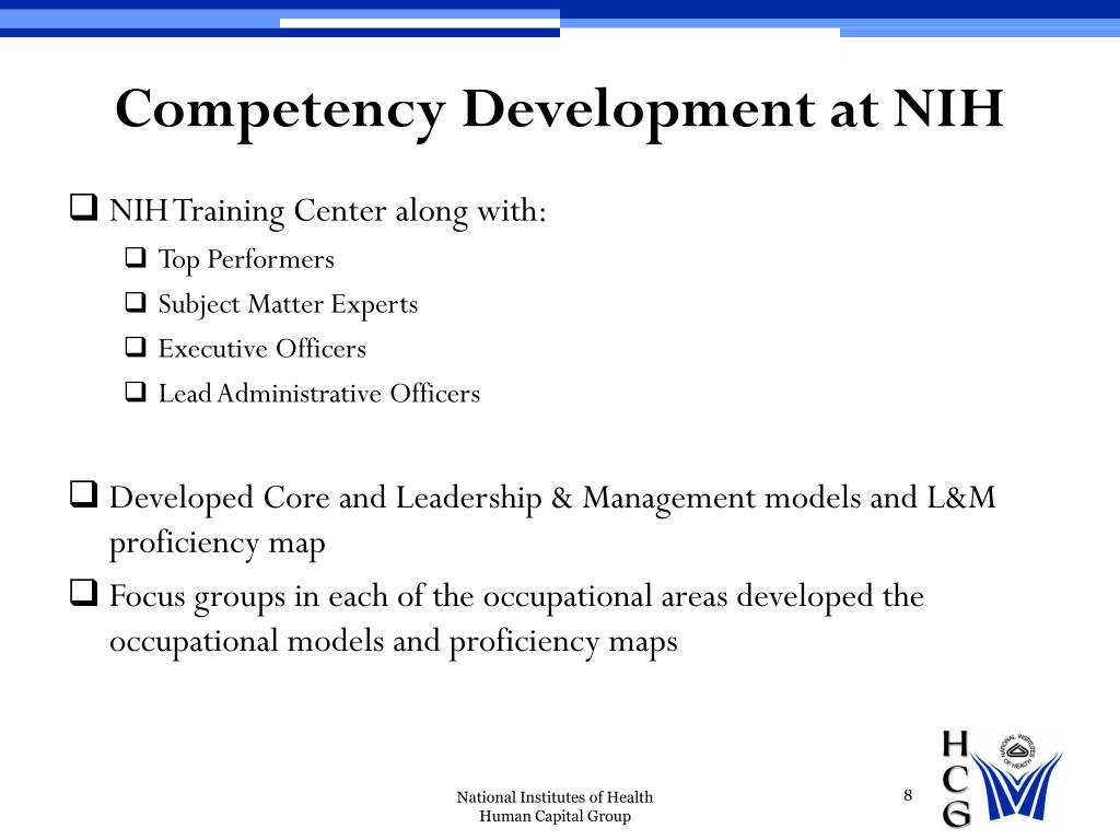 Competency Development at NIH